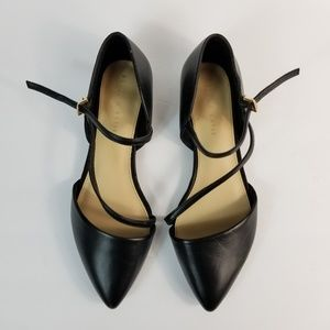NEW Kelly & Katie Eluna Black Flats Strappy Point